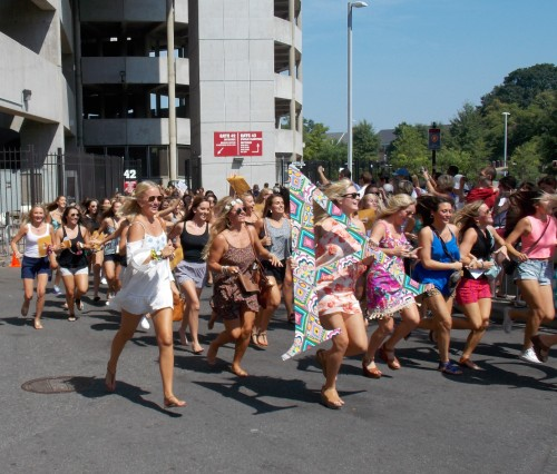 University of Alabama's Sorority Bid Day 2014 sees record numbers
