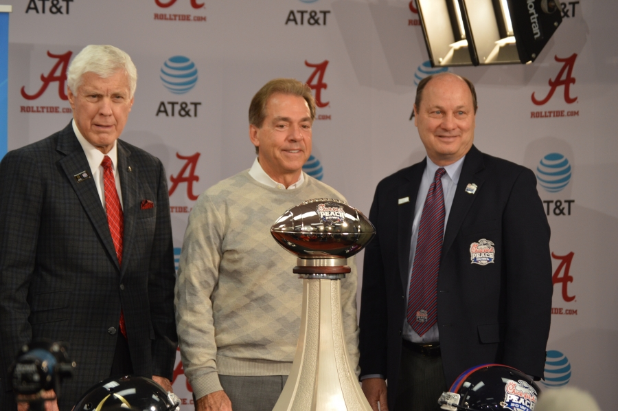 Chick Fil A Peach Bowl officially extends invitation to No. 1 Crimson Tide team (via Crimson Magazine)