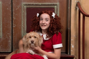 "Caroline Gibson is playing the title role in The ACT's production of ""Annie."" Terrier mix Pharaoh will be playing her faithful companion, Sandy."