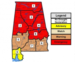Tuscaloosa, 17 Additional Counties Placed Under Drought Emergency Status
