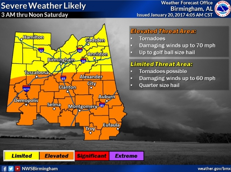 Heads Up: Severe Weather a Possibility this Weekend