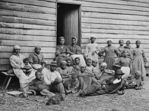 The simple clothing worn by slaves was often manufactured in New England and shipped to Alabama and other southern states.