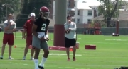 Jalen Hurts' Leadership Apparent on Day One of Fall Camp