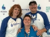 Amanda Roberts with her parents, Kim and Marc, at the Special Olympics USA Games in Seattle, WA in July.