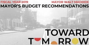 Tuscaloosa Mayor Maddox Presents 2019 Budget Recommendation to City Council