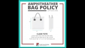 Tuscaloosa Amphitheater Institutes Clear Bag Policy for Concerts
