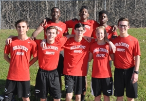 First row from left to right, Preston Reynolds, Jacob Fitzpatrick, Cory Facio, Caitlyn Sanders, and Mike Harrison.  Back row, from left to right, Tarrance Stokes, Jordan Melton and Kylan Taylor.