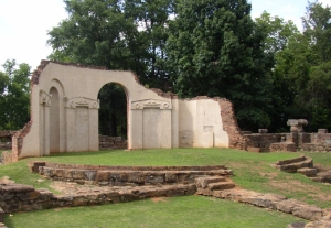 Ruins of the rotunda of the old capitol building in Tuscaloosa where Prof. Barnard demonstrated Foucault's Pendulum in June of 1851.
