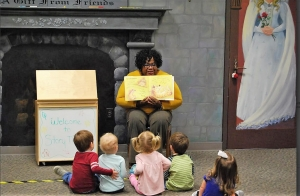 TPL Children's Librarian Gwen Pascal reads to children each week at the Main library branch.