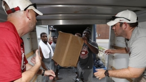 Alabama Football Joins Hurricane Harvey Recovery and Relief Efforts
