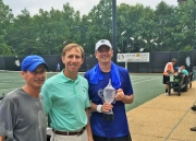 (L to R): Jim Fleenor, tournament sponsor, Richard Ellis and Richard Vise.