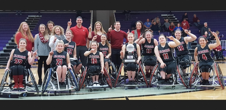 The University of Alabama women's wheelchair basketball team won its fifth national championship on Saturday, March 11.