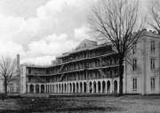 Woods Hall, shown in about 1905, was the scene of a gunfight in 1883.