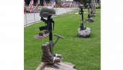 The Fallen Soldier Battle Cross is a new and permanent exhibit installed at the Tuscaloosa Memorial Veterans Park in June 2020.