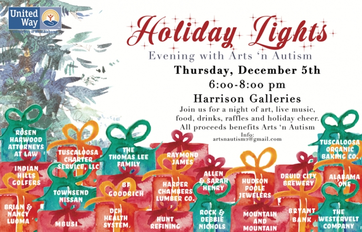 "Thirteenth Annual Evening of Arts 'N Autism: ""Holiday Lights 2019"" Set for Dec. 5"