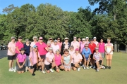 Participants in the 2016 Rally for the Cure Tournament at Tall Pines Golf Club on Oct. 15 were: Front Row (L to R): Vickie Gaines, Carol Pierce, Shelia Brown, Sarah Jane Baxter, Patty Banks, Glenda Richardson, Sandy Sergent, Sherry Allison and Sandra Holliman.  Back Row (L to R): Pat Postle, Cherry Pugh, Jean Ford, Sharon Ruyle, Nicole Nolen, Nancy Terry, Ann Glass, Joyce Jankowski, Beth Yarbrough, Nettie Kizzire, Donna Robinson, Clara Lamb, Juanita Guy, Laura Beth Yates, Janet Persons, Rachael Pricket, Marion Hackstead, Peggy Herron. Not pictured- Martha Lennox