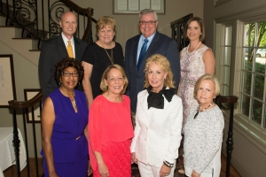 "The Pillars Award recognizes those who have gone above and beyond for the community. 2016's Pillars were: Front Row: Yvonne Wells, Susan Cork, Karen Brooks, Barbara Harris for Claude Harris. 2nd Row: Drew Kyle for Chris Kyle, Sr., Vicki Kerr, Randy Skagen, Anna Laurie McKibbens for Coach Paul ""Bear"" Bryant."