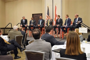 Members of the Tuscaloosa County Legislative Delegation discuss key issues during the Chamber in Session: State of the State event on Nov. 10.