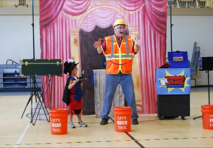 Magician Tommy Johns gives kids a chance to have creative fun with great books, puppets, and magic.