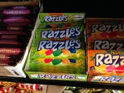 Giant Tootsie rolls, Razzles and candy buttons are a few of the specialty grocery store's selection.