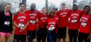 The Hillcrest High School Army Junior ROTC won its fourth victory in the 4th Annual Tuscaloosa Marines Memorial 5K Run held on February 18.  From left to right: Sophie Smelley, Preston Reynolds, Monterrious Bishop, Jacob Fitzpatrick, Ladayna Finley, Phenix Owens, Mike Bray, Jordan Melton, Trey Little.