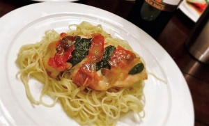 DCL Recipes: Sausage and Cheese Soufflé and Chicken Saltimbocca