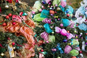 The annual Tinsel Trail features festive Christmas trees decked out for the holidays. Proceeds from the event help fund Tuscaloosa's One Place programs.