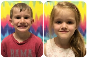 Mills (5) and Alyssa (5) are the June PreK Pals!