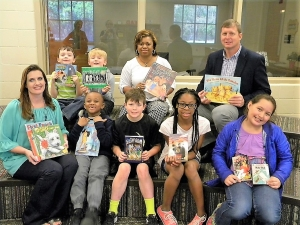 Over 700 books were delivered to Moundville Elementary in Hale County, as part of the 2017 Books for the Black Belt campaign.