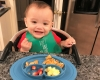 Even at just a mere 11 months, my son Sam Asher has turned into a scrambled egg snob. He'll only eat his daddy's cooked to perfection fluffy eggs instead of mom's quickly microwaved scramble.