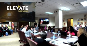 The Tuscaloosa City Council holds a work session to discuss Elevate Tuscaloosa on Feb. 12.