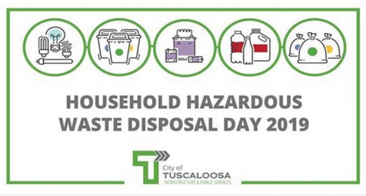 City of Tuscaloosa's Household Hazardous Waste Disposal Day Set for June 8