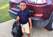 Beaux William is ready for his first day of Kindergarten at Riverwood Classical School.