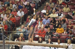 No. 6 Crimson Tide gymnasts roll to home SEC win over No. 14 Missouri (via Crimson Magazine)