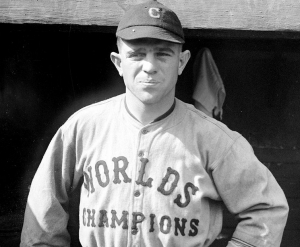 Joe Sewell played for the Cleveland Indians when they won the World Series in 1920.