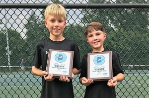 Jonni Kneer and Tony Sciara were the Boys Under 10 champions.