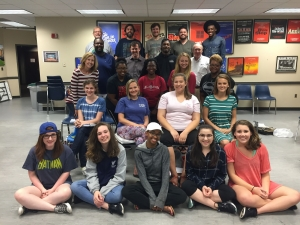 "The ""Ragtime"" ensemble cast takes a break from rehearsing for a quick photo. The musical will be performed July 14-23."