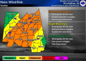 Tropical Storm Watch in Effect for Tuscaloosa County for TS Nate