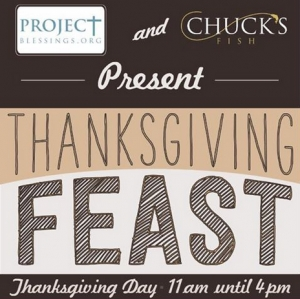 Chuck's Fish and Project Blessings Partner for Thanksgiving Feast
