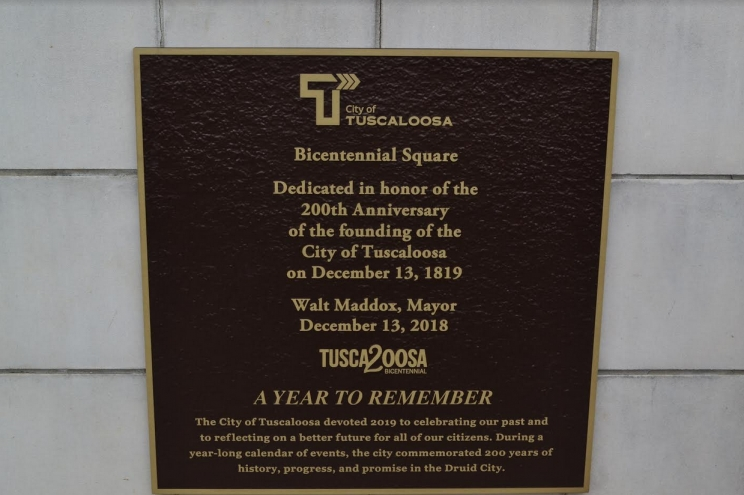 "Bicentennial celebration events kicked off on Dec. 13, with the dedication of Government Plaza's central gazebo as ""Bicentennial Square."""
