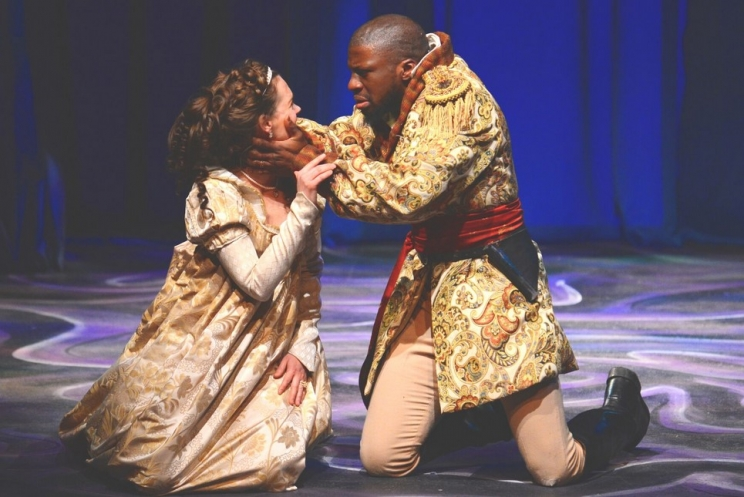 "Michael Luwoye was the star of the University of Alabama's production of ""Othello"" before he graduated. Today, he's headlining on tour in ""Hamilton."""