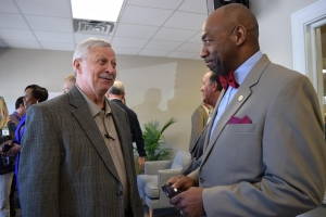 West Alabama Works Steering Committee Chairman Gary Nichols and Alabama Secretary of Labor Fitzgerald Washington at the opening of the Brookwood Career Center on May 1.