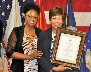 Deborah Cain, VP AUSA, West/Central Al Chapter (left) and Cynthia Warrick, President, Stillman College
