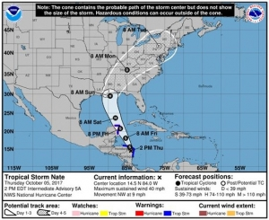Governor Ivey Declares State of Emergency Ahead of Tropical Storm Nate