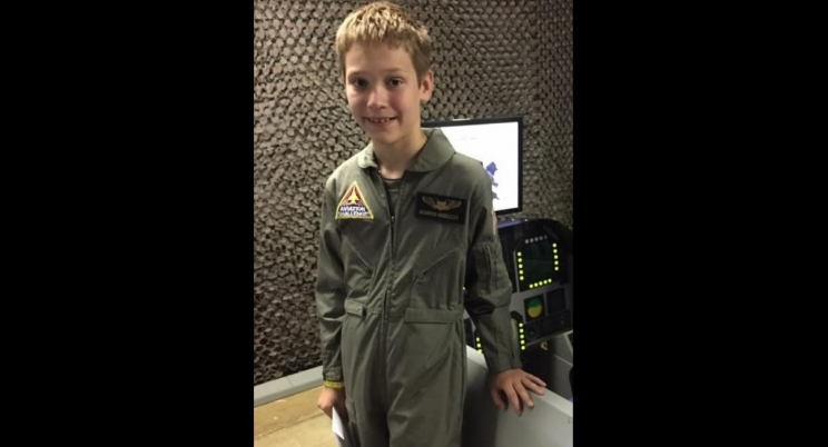 Alex Halbesleben of Tuscaloosa recently attended Aviation Challenge - Mach I at the U.S. Space and Rocket Center in Huntsville.