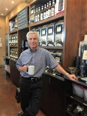 Randy Adamy, the owner of O'Henry's Coffees since 1999.