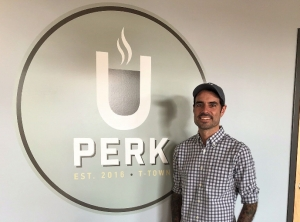 Jamey Hamm serves as UPerk's community manager and has overseen operations since the shop's opening in August.